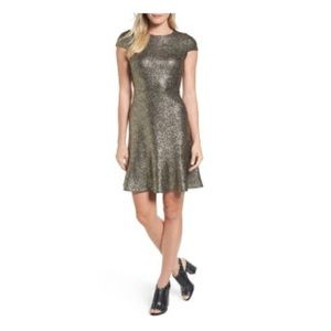 Michael Kors gold fleck dress